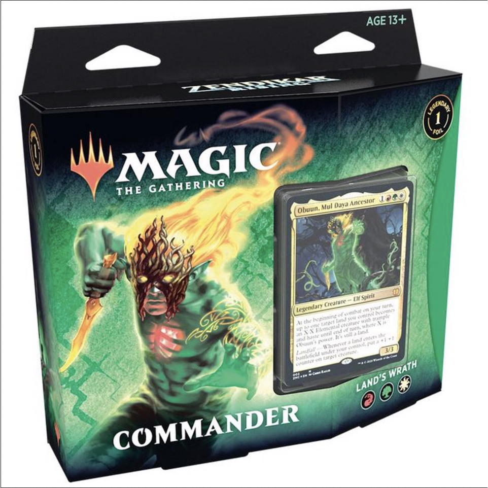 Magic tG - Zendikar Rising commander deck - Land's Wrath
