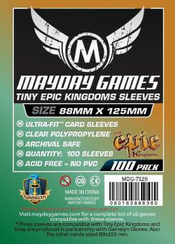 Mayday obaly 88x125mm (100 ks) - Tiny Epic Knigdoms