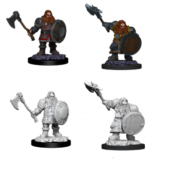 Dungeons & Dragons: Nolzur's Miniatures - Dwarf Male Fighter