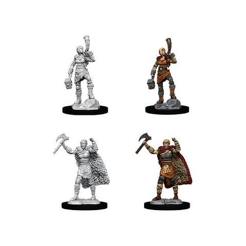 Dungeons & Dragons: Nolzur's Miniatures - Female Human Barbarian